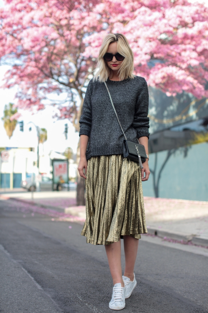 PINK TREES GOLD SKIRT-3