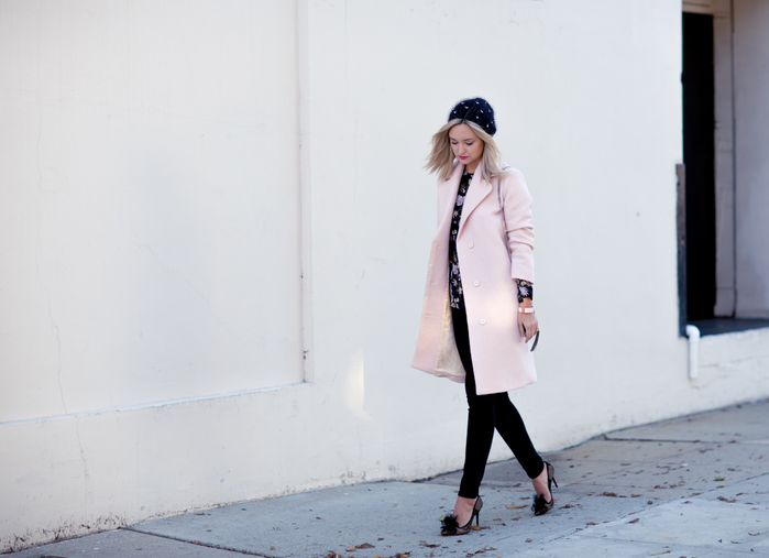 PINK MAJE COAT_BLACK JEANS-6